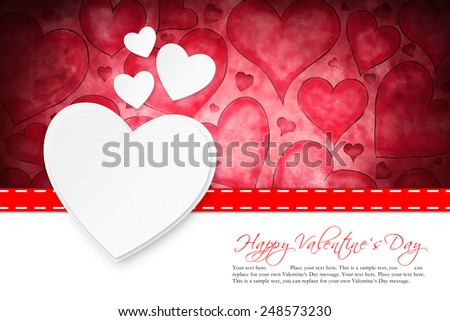 valentine's day card - stock photo