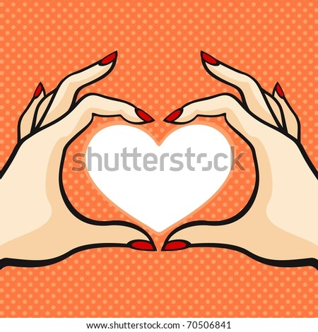 Valentine's day card (raster version) - stock photo