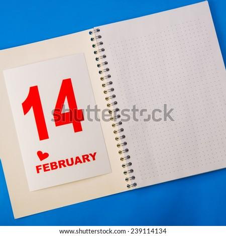 Valentine's Day. February 14. - stock photo