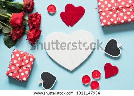 Female hands holding valentines day heart stock photo 781610614 bouquet of red roses and gift heart as blank for negle Gallery