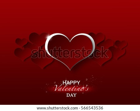 Valentines day greeting wallpaper background stock illustration valentines day greeting wallpaper and background m4hsunfo Choice Image