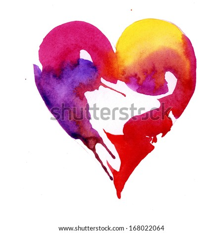 Valentine's day heart design - stock photo