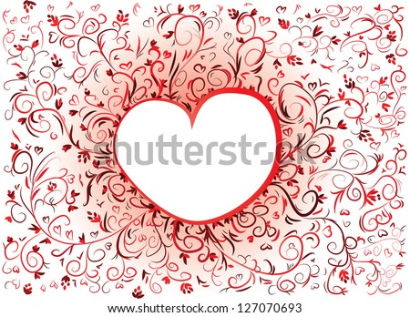 Valentine´s Card - vector illustration of a valentine´s heart shape