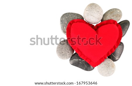 Valentines Day Red Heart Zen Stones Stock Photo Royalty Free