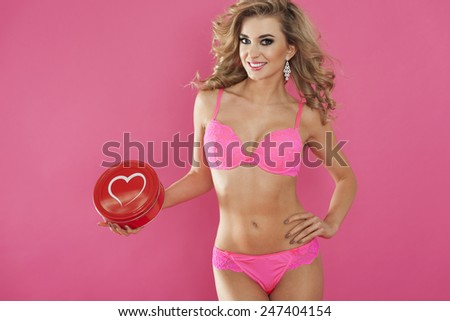 Valentine's day with me will be special for you   - stock photo
