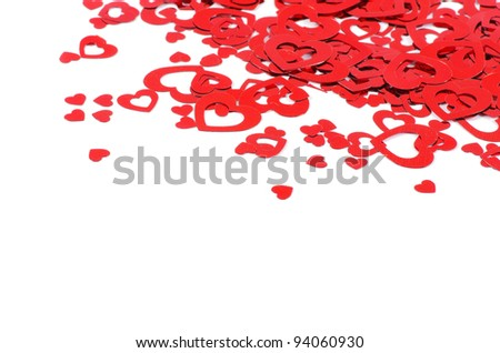 Valentine's Hearts isolated on white