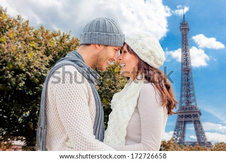valentine trip to paris city of love - stock photo