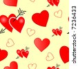 Valentine with hearts - seamlessly wallpaper. Vector version - in my portfolio - stock photo