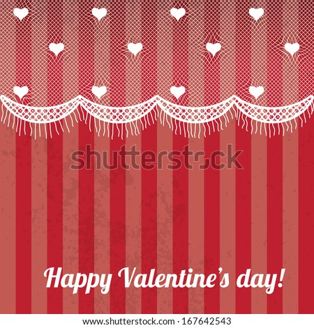 valentines background with white lace