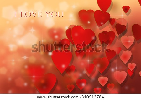 Valentines day abstract hearts - stock photo