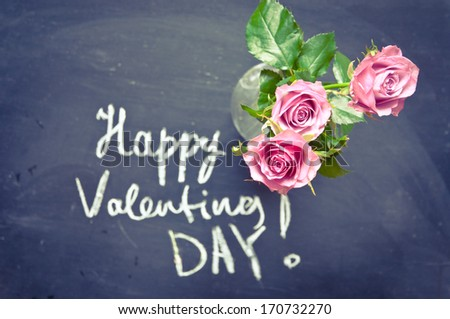 Valentines day background - stock photo