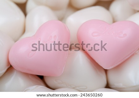 Valentines Day background with hearts love