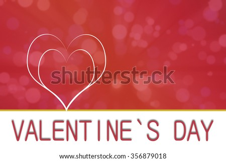 Valentines day heart illustration background with copyspace - stock photo