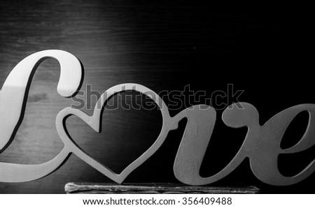 valentines day,heart,love,horizontal photo - stock photo