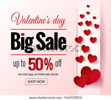valentines day sale flayers online shopping stock illustration, Ideas