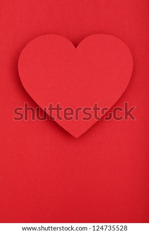 valentines paper heart, concept love two people, valentine day - stock photo