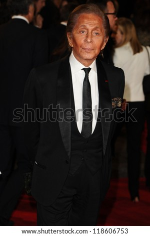 Valentino arriving for the Royal World Premiere of 'Skyfall' at Royal Albert Hall, London. 23/10/2012 Picture by: Steve Vas
