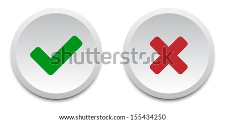 Validation buttons. Vector available. - stock photo