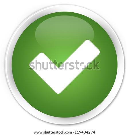 Validation icon green button - stock photo