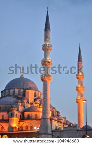 Valide Sultan Mosque most famous as Yeni Cami (built 1597-1663 by Ottoman's)