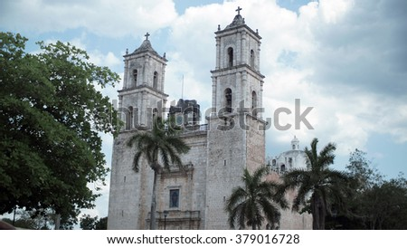Valladolid cathedral near Chichen Itza, Mexico