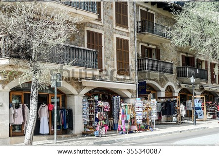 VALLDEMOSSA, SPAIN - Mar 23, 2014: Ancient village on island of Majorca  Place of outstanding beauty in the Serra de Tramuntana area, hosted Frederic Chopin and George Sand as famous guest