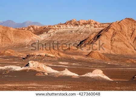 Valle De La Luna - Moon Valley, Atacama, Chile - stock photo