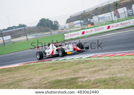 Vallelunga, Rome, Italy. September 10th 2016. Formula 4 Championship, artem petrov in action during the race
