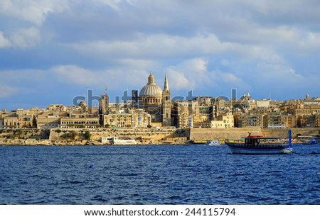 Valletta Malta - stock photo