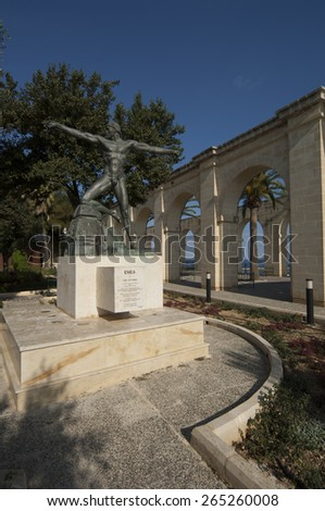 VALLETTA/MALTA 29TH DECEMBER 2006 - Lower Barrakka Gardens - stock photo