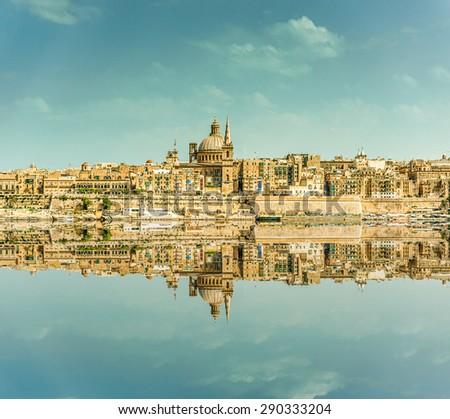 Valletta Skyline in the day. Malta - stock photo