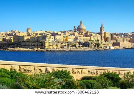 Valletta Skyline , Malta - stock photo