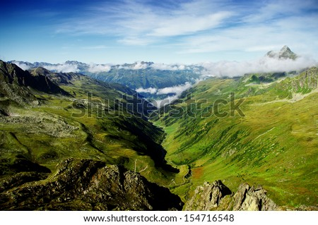 Valley in the Austrian Alps