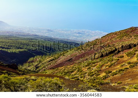 Valley Landscape in Tenerife Canary Island in Spain