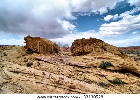 Valley of Fire in Nevada / Desert Rocks - stock photo