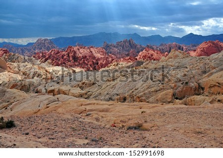 Valley of Fire, Nevada - stock photo