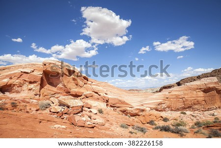 Valley of Fire wild landscape, Nevada, USA. - stock photo