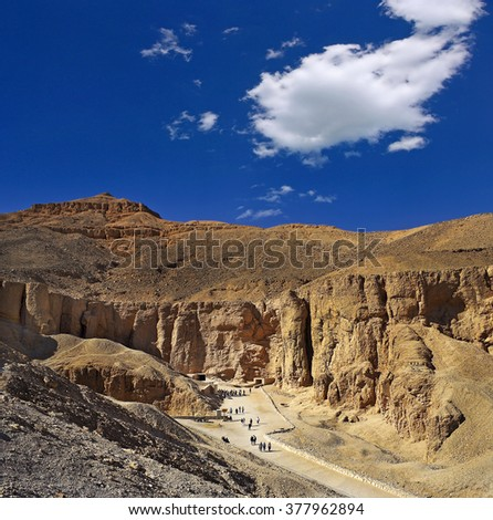 Valley of kings, Luxor, Egypt, UNESCO World Heritage Site - stock photo