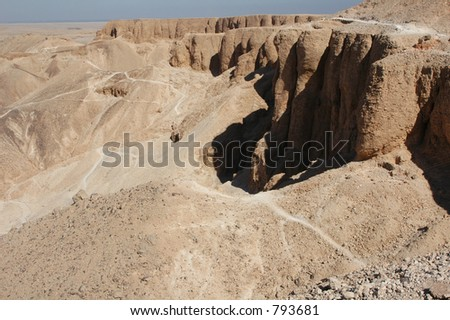 Valley of the Kings near Luxor (Thebes), Egypt, where the tombs of the New Kingdom's pharaohs were found - stock photo