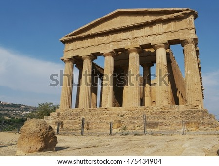 Valley of the Temples (Valle dei Templi) Agrigento, Sicily, Italy August 2016