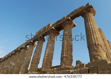 Valley of the Temples (Valle dei Templi) Agrigento, Sicily, Italy August 2016, Sicily, Italy August 2016