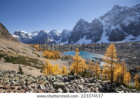 Valley of the Ten Peaks & Eiffel Lake, Banff National Park, Lake Louise, Alberta, Canada.  Start Point for this hike is Moraine Lake.