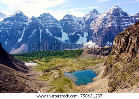 Valley of the Ten Peaks with Eiffel Lake. Near Lake Louise Alberta Canada & Eiffel Peak Stock Images Royalty-Free Images u0026 Vectors | Shutterstock