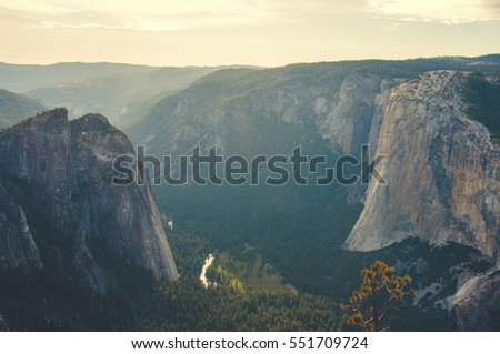 Valley of the Yosemite National Park, California, USA