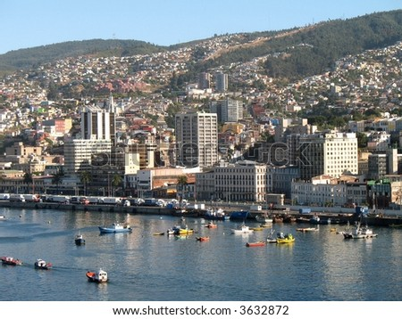 Valparaiso Harbor - stock photo