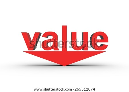 value down - stock photo