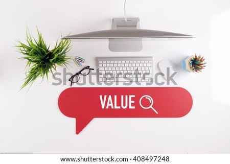 VALUE Search Find Web Online Technology Internet Website Concept - stock photo