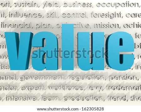 Value word cloud - stock photo
