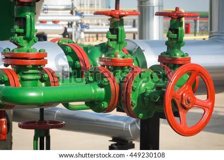 Valve and pipeline - stock photo
