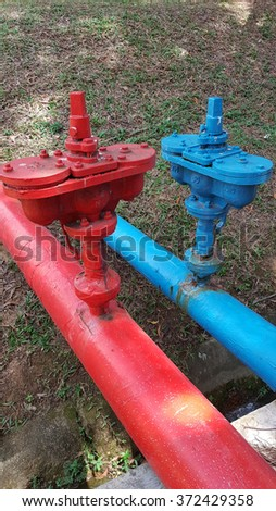 Valve for utilities and firewater - stock photo